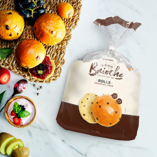 6 x Lean Brioche Roll - Pepitas de Chocolate 40 g