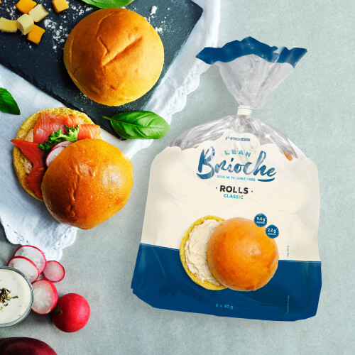 6 x Lean Brioche Roll - Klassiek 40g