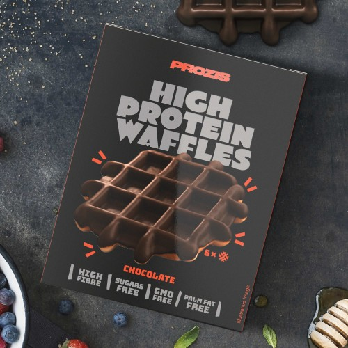 6 x High Protein Waffles - Chocolate 30 g