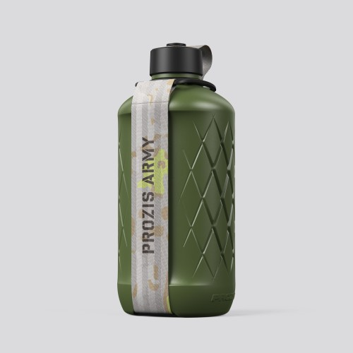 Army Hydra Bottle - 1.8L Green/Neon Yellow