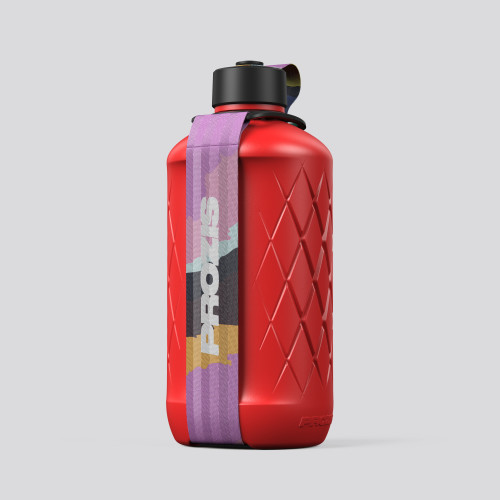 Botella Hydra - 1.8L Red/Print Pink