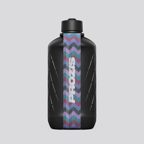 Hydra Bottle - 1.8L Black/Zig-zag Purple