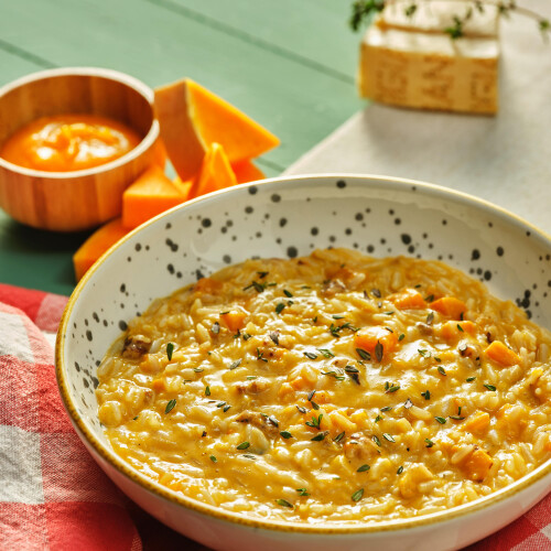 Roasted Pumpkin Risotto with Walnuts