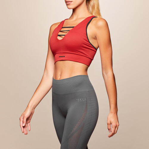 X-Skin Leo Sports Bra - Haute Red