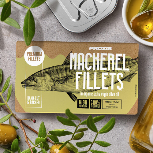 Mackerel Fillets - In Organic Extra Virgin Olive Oil 120 g