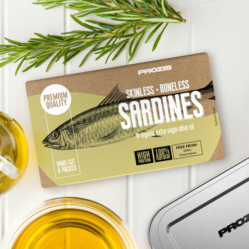 Skinless and Boneless Sardines - In Organic Extra Virgin Olive Oil 120 g