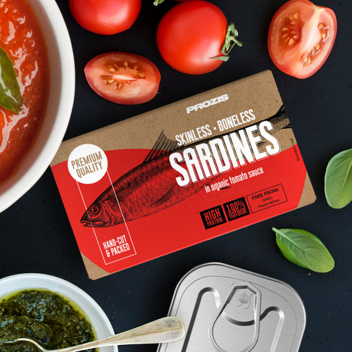Skinless and Boneless Sardines - In Organic Tomato Sauce 120 g