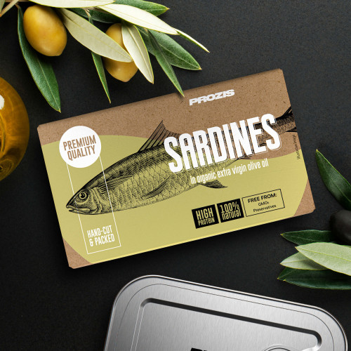 Sardines - In Organic Extra Virgin Olive Oil 120 g