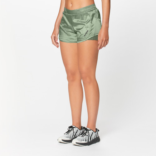 X-Run Boston W Double Shorts - Army