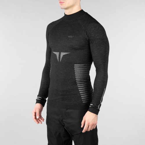 Peak Langarm Baselayer - Shinobi Night/Grey
