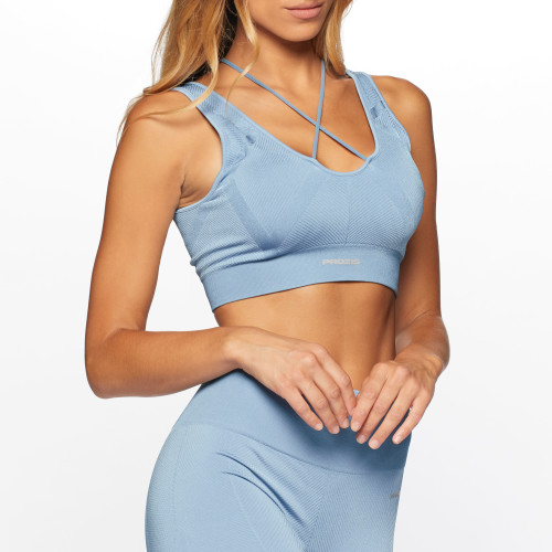 X-Skin Draco 2.0 Sports Bra - Dusty Blue