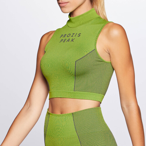Peak Crop Top - Storm Volt