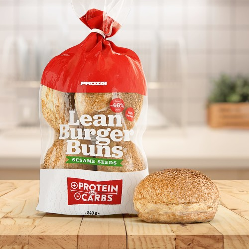 Lean Burger Buns - Pain à Hamburger aux Graines de Sésame 340 g