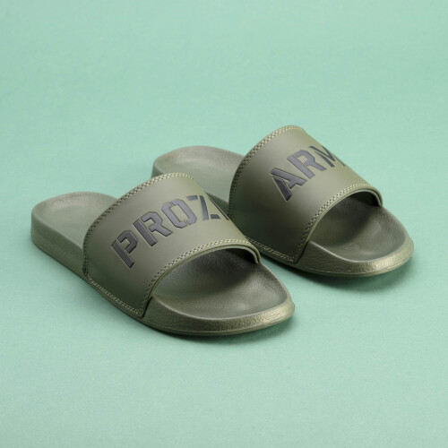 Army Slide Sandals - Green