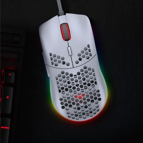 Kinaction - Souris Gamer - Blanc