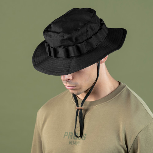 Chapeau de Brousse Army - Field Stealth Black