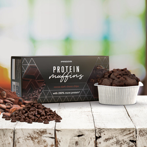 2 x Protein Muffins - Cacao con pepitas de chocolate negro 60 g