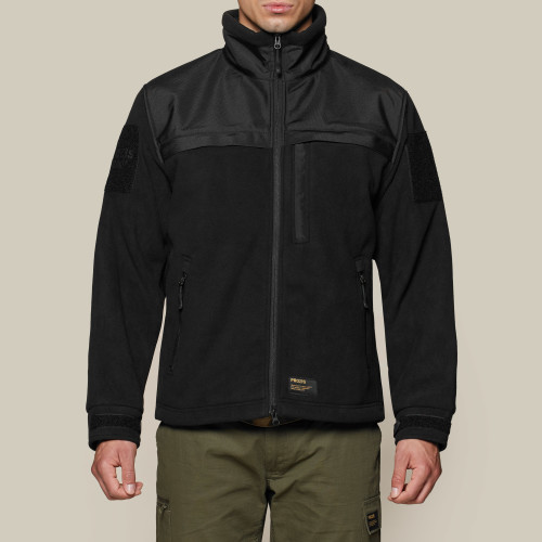 Army Heavy Duty Fleece Jacket - Black