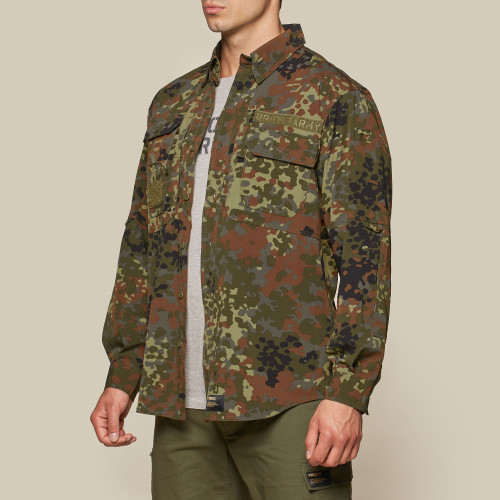 Army Field Stretch-hemd - Camo