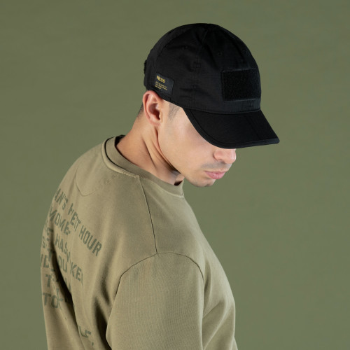 Army Foldable Cap - Combat Issue Stealth Black