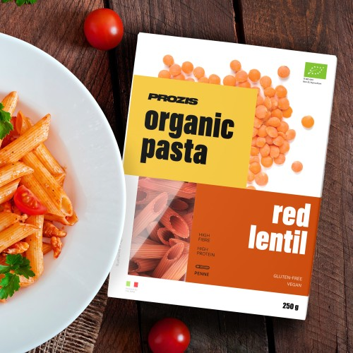 Organic Pasta - Rote Linsen - Penne 250 g