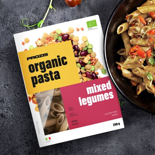 Organic Pasta - Mixed Legumes - Penne 250 g