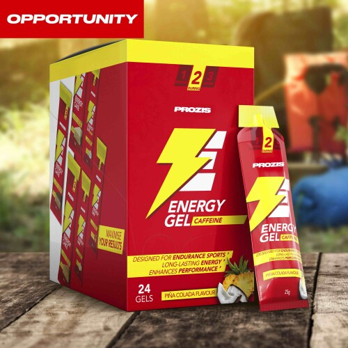 24 x Energy Gel + Caffeine 25 g Opportunity