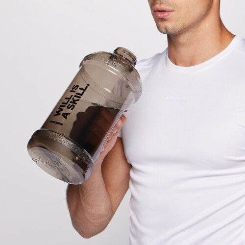 Will is a Skill. 2L Gym Jug - Black