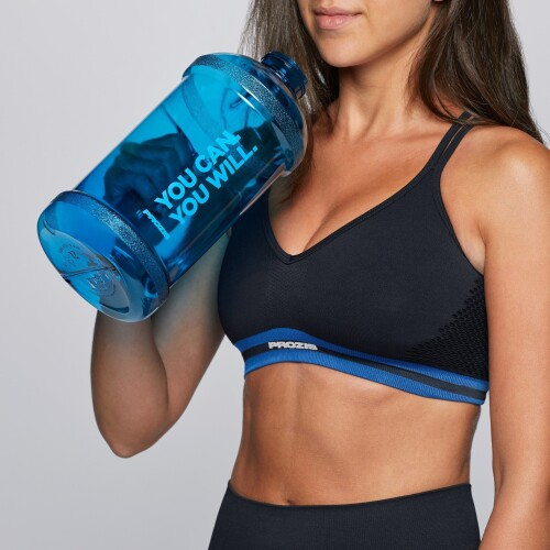 You can. You Will. 2L Gym Jug - Blue