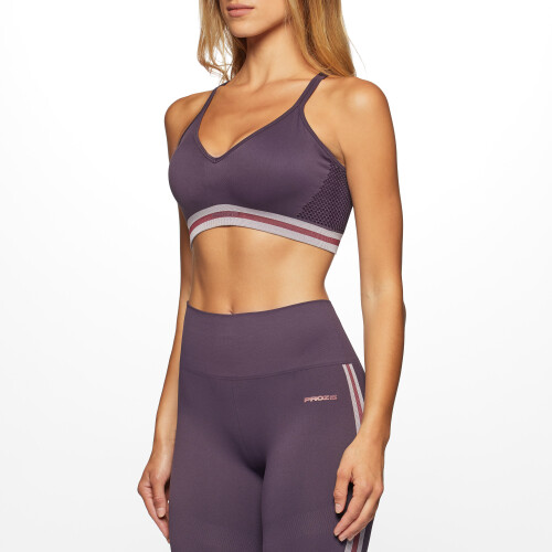 X-Skin Corona Sports Bra - Plum Perfect