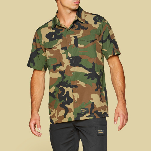 Army Jungle Stretch Shirt - Camo Green