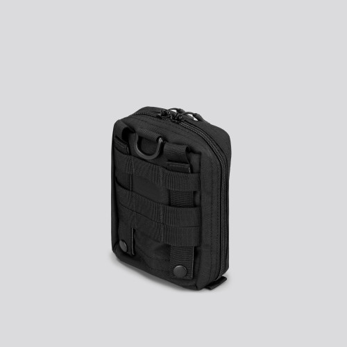 Army Medium Vertical Tactical Pouch - Stealth Black