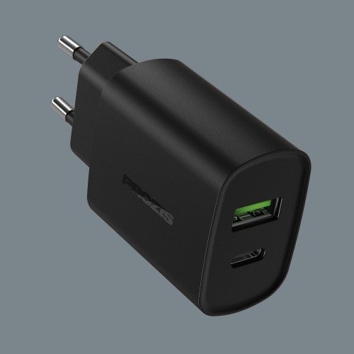 Fluxr - QC 3.0 & USB-C Charger - Black