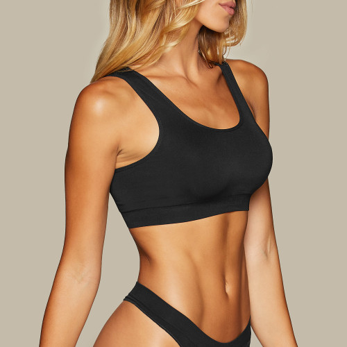 Active Seamless Bra - Black