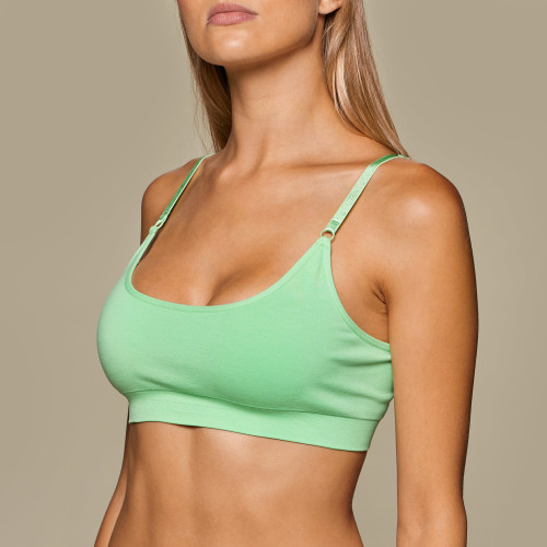 Daily Seamless Bra - Mint Green Melange