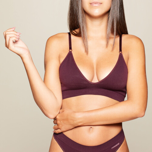 Triangle Seamless Bra - Bordeaux