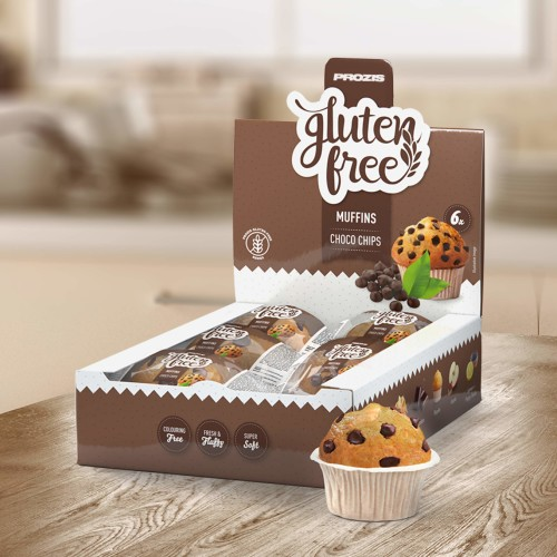 6 x Gluten Free Muffin 60 g Chocolate Chip