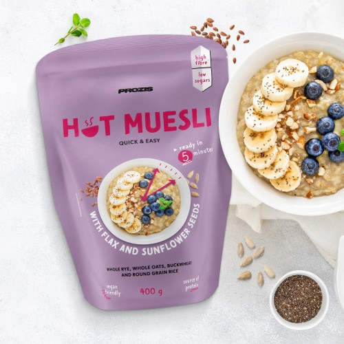 Hot Muesli 400 g - Flax and Sunflower Seeds