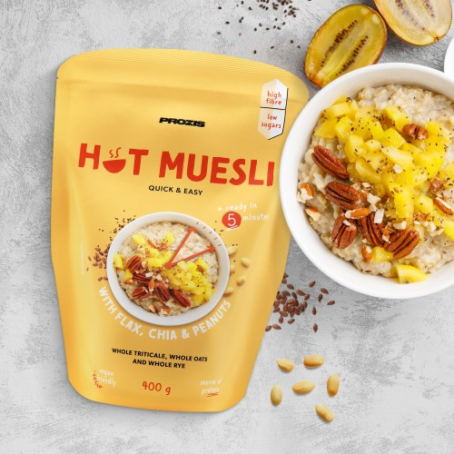 Hot Muesli 400 g - Flax, Chia and Peanuts