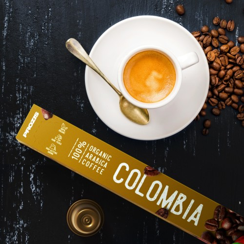 100% Organic Arabica Coffee - Colombia 20 caps