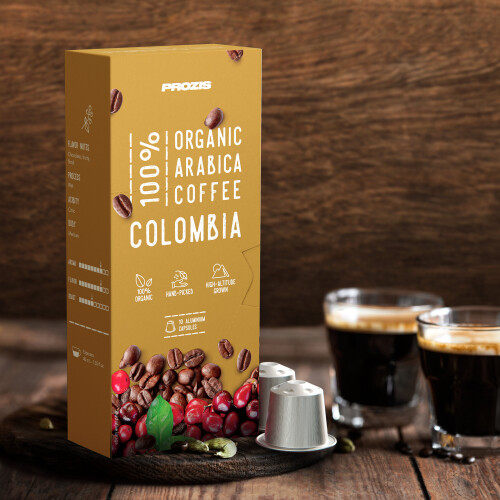 100% Organic Arabica Coffee - Colombia 30 caps