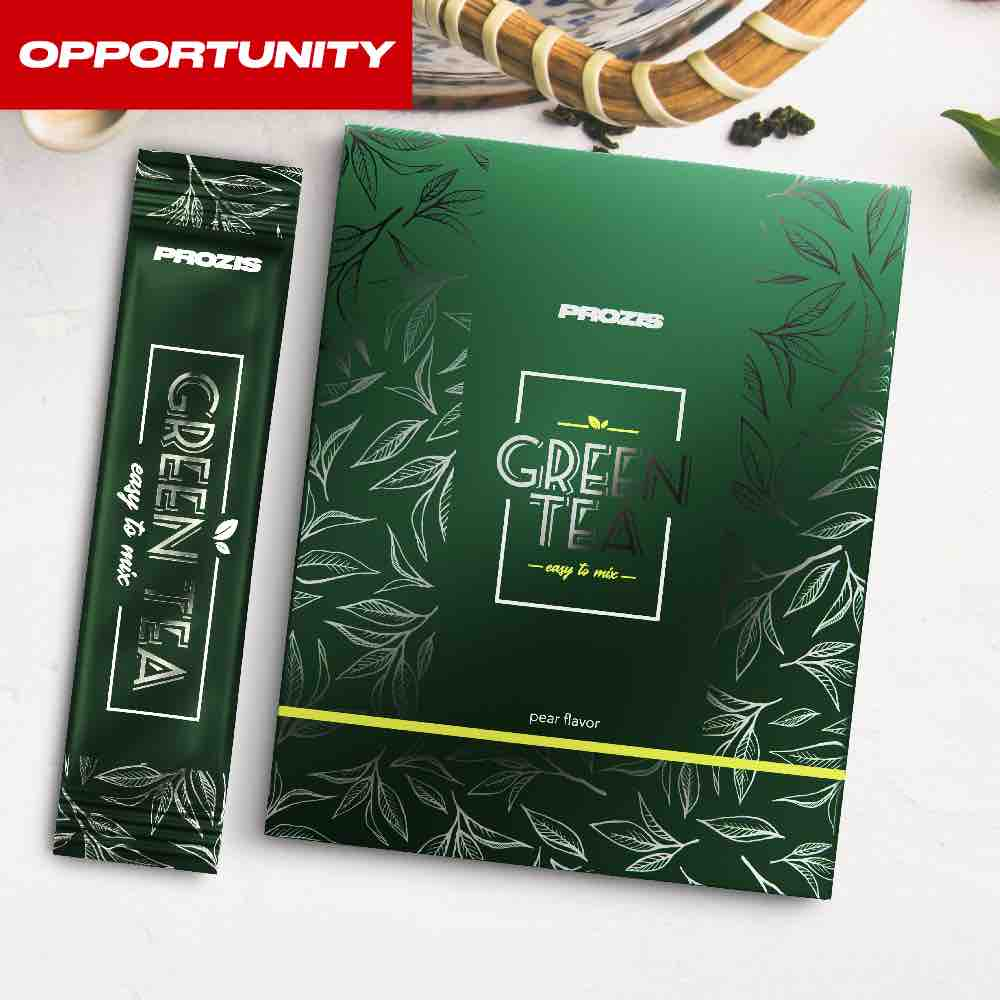 12 x Green Tea - Instant Powder stick 3 g Opportunity