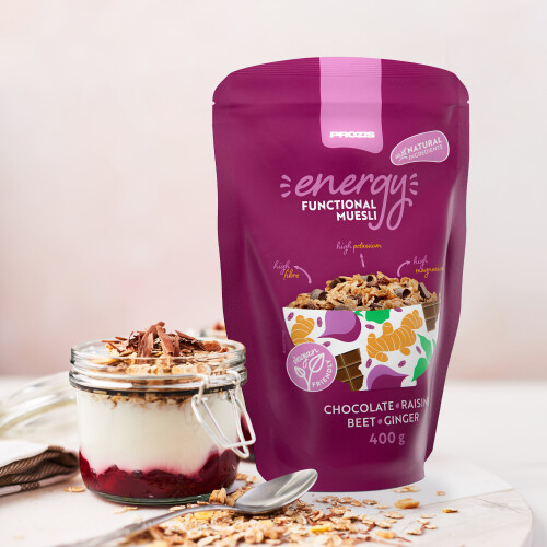 Energy Functional Muesli 400 g Chocolat - Raisins Secs - Betterave - Gingembre