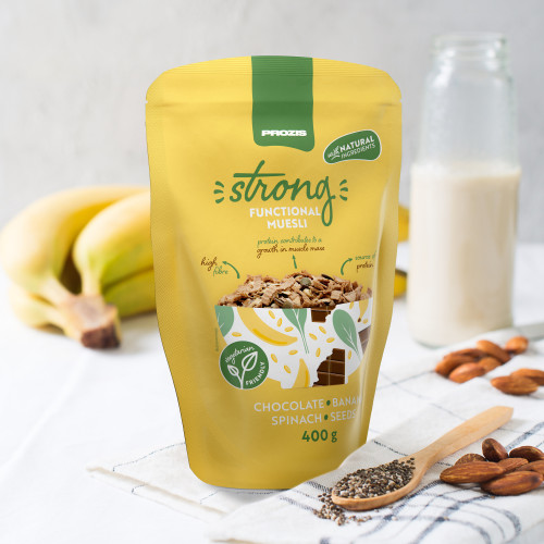 Strong Functional Muesli 400 g Cioccolato - Banana - Spinaci - Semi