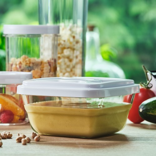 EasyVac Glass Vacuum Food Container 0.9 L