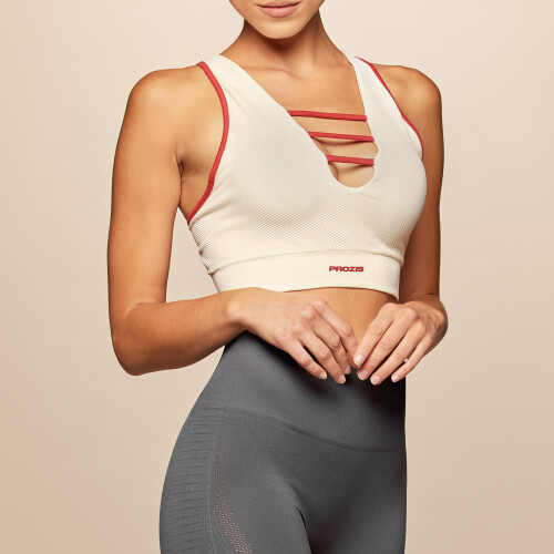 X-Skin Leo Sports Bra - Marshmallow