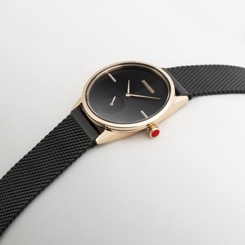 Montre  - Split-Second Small Golden Black