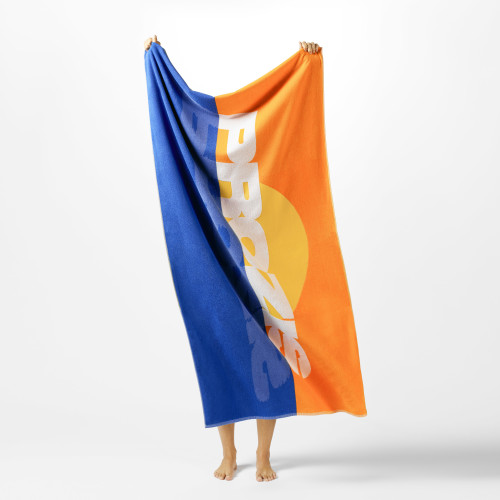 Chase the Sunset Beach Towel - Blue/Orange