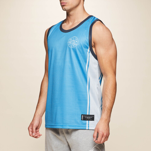 X-College Reversible Tank Top - Davis Blue