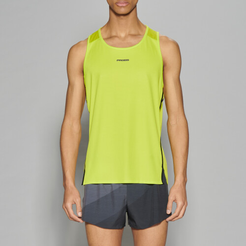 X-Run Boston M Tank Top - Lime Punch